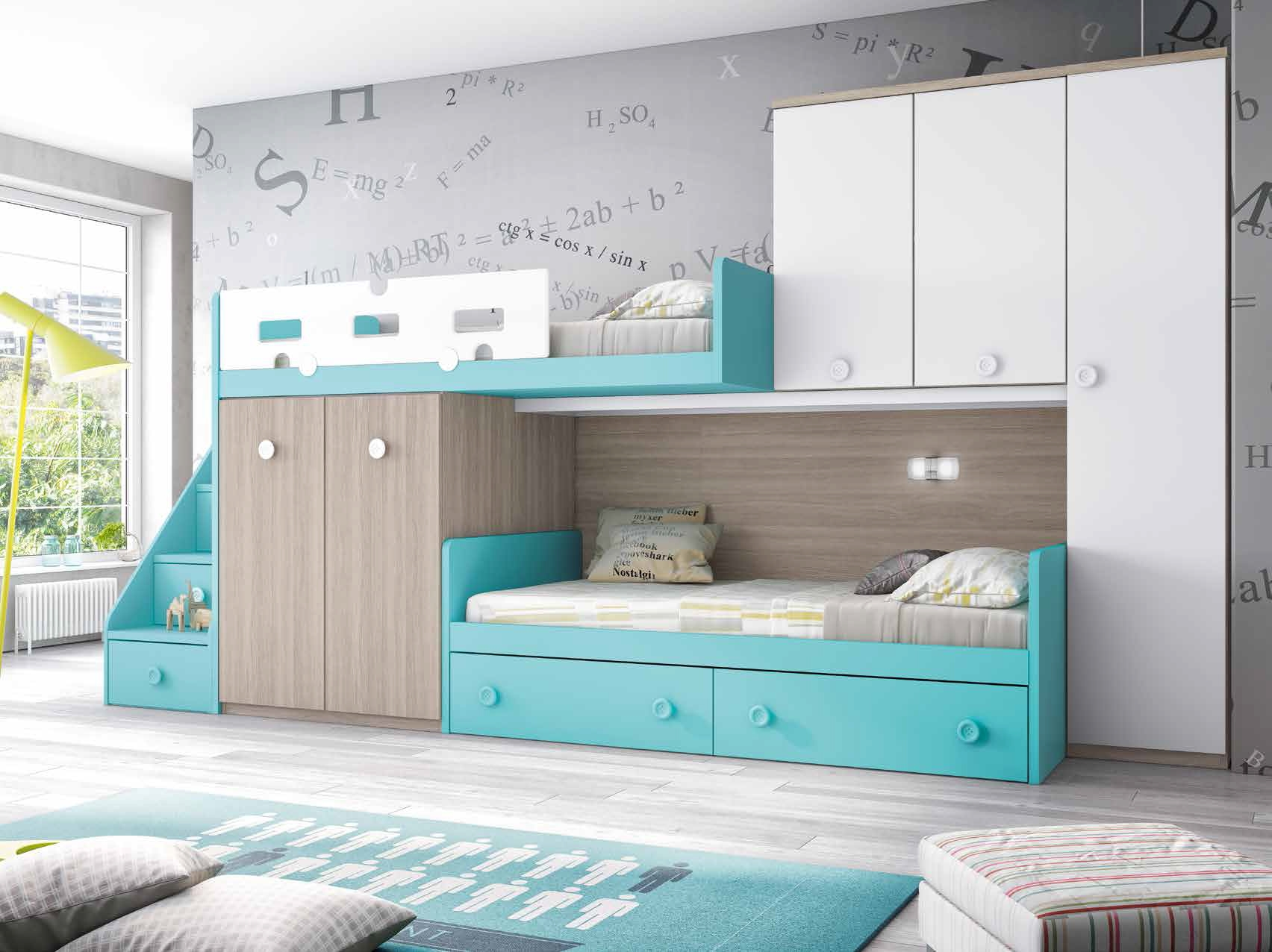 lits superpos s optimiser l espace d 39 une petite chambre. Black Bedroom Furniture Sets. Home Design Ideas